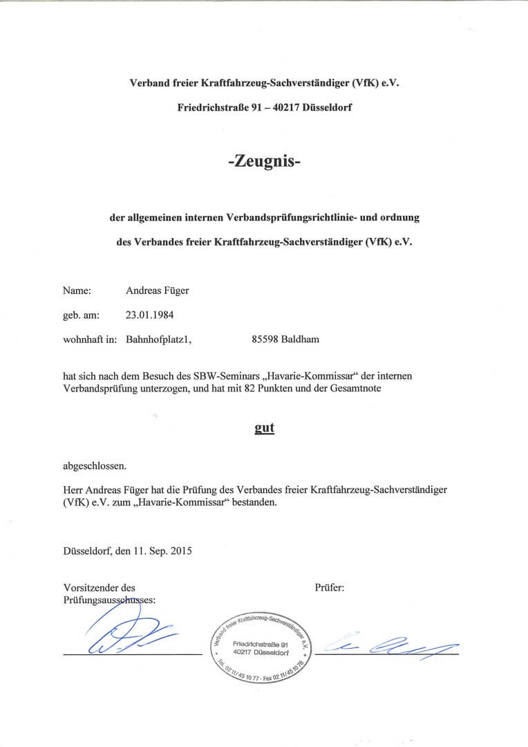 Pruefungszeugniss-VFK-Havariekomissar