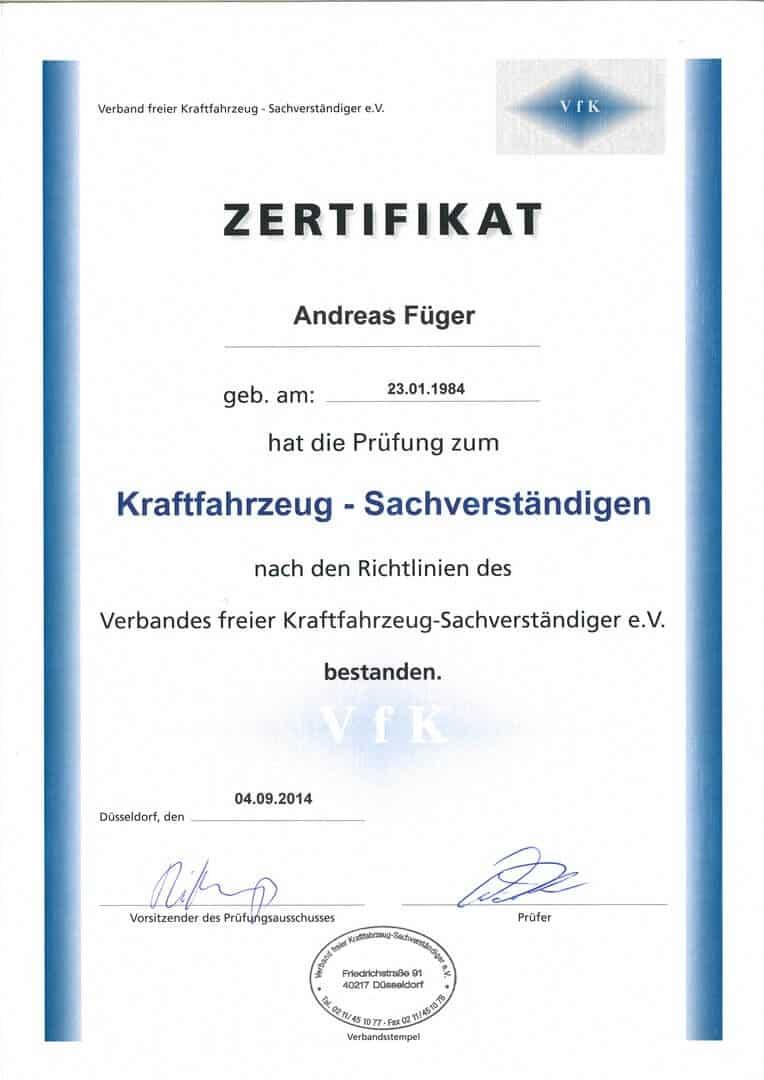 VFK-KFZ-Schadengutachter