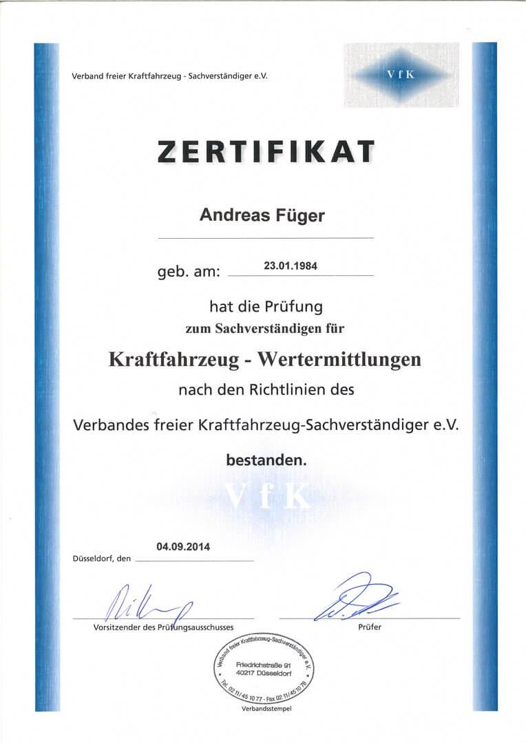 VFK-KFZ-Wertgutachter