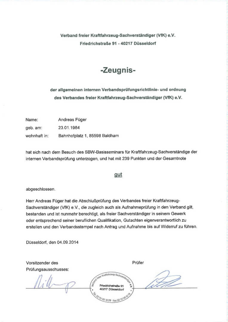 Pruefungszeugniss-VFK-KFZ-Sachverständiger